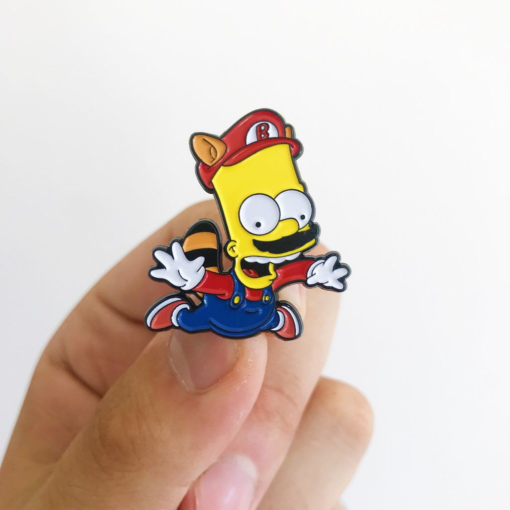 Bario Super Springfield Bros Pin Badge