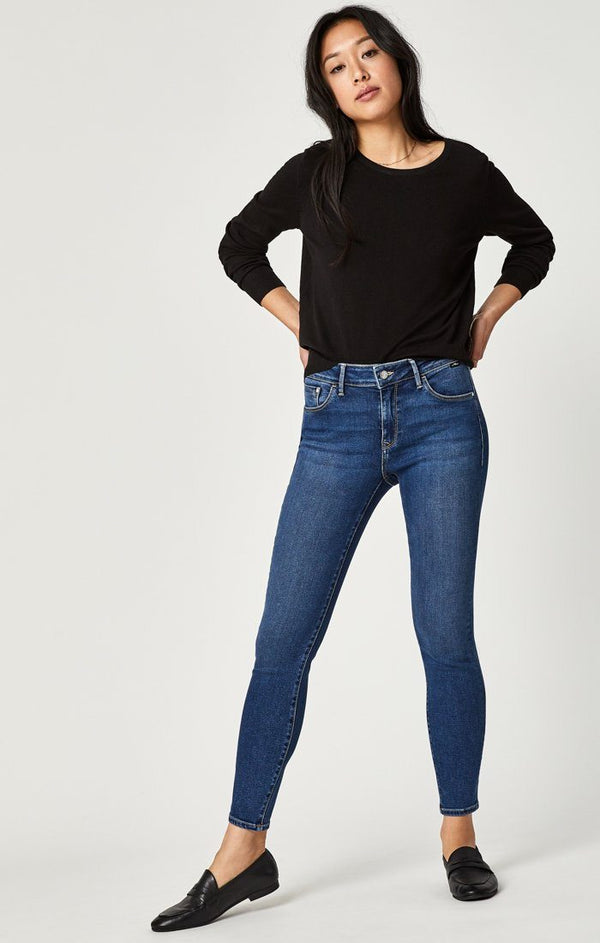 ADRIANA ANKLE SUPER SKINNY IN MID INDIGO SUPERSOFT - Mavi Jeans