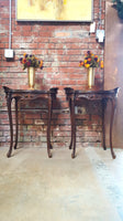 Pair of French Inlaid Tables
