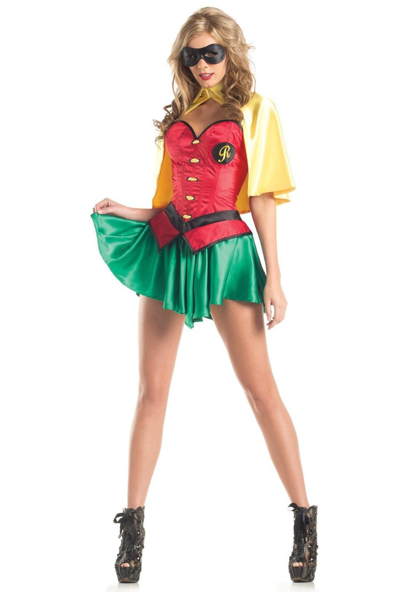 Be Wicked 5 Piece Miss Robin Costume BW1420C