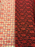 Galloon Lace - 24-inches Wide Red