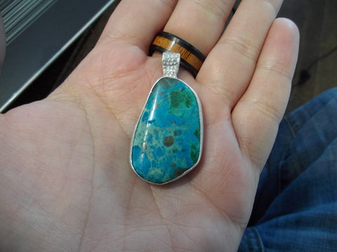 13.8g RAY MINE CHRYSOCOLLA PENDENT