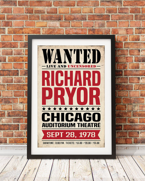 Richard Pryor Concert Poster (Black Comedy Series Original Design)