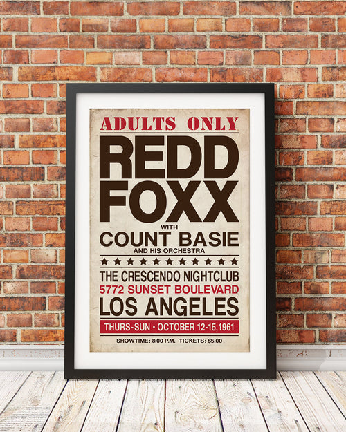 Redd Foxx Stand-Up Event Poster (Black Comedy Series Original Design)