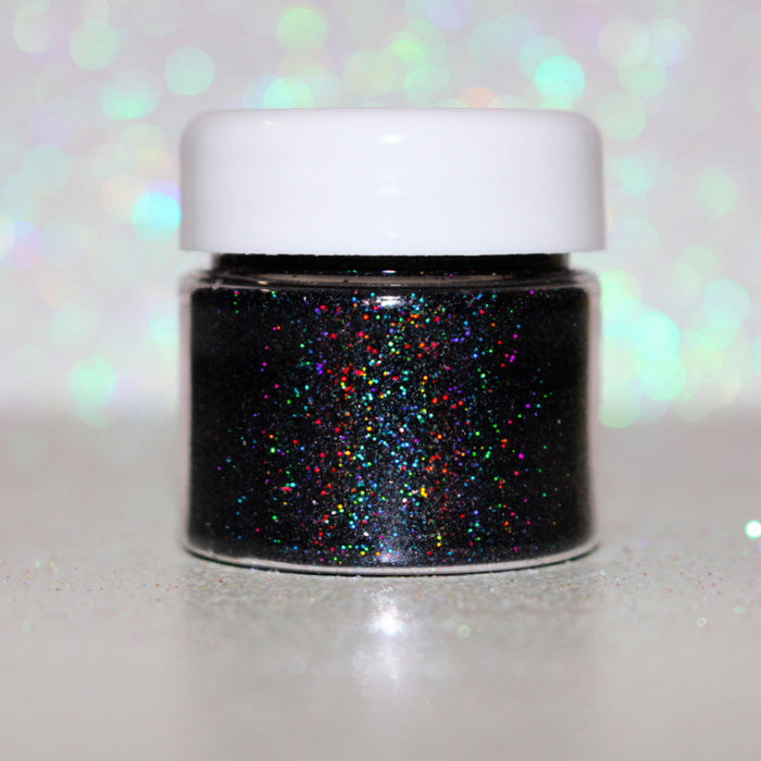 "Glitter Lambs ""Licorice"" Black Holographic Glitter Eyeshadow 