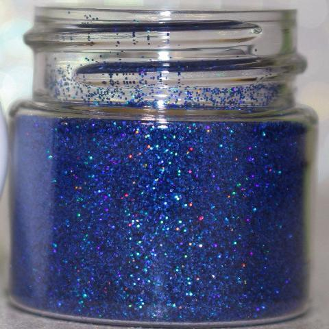 "Glitter Lambs ""Ruler"" Blue holographic makeup body face hair glitter GlitterLambs.com"