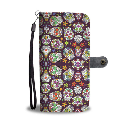 Sugar Skulls Wallet Phone Case - Mix Web Shop