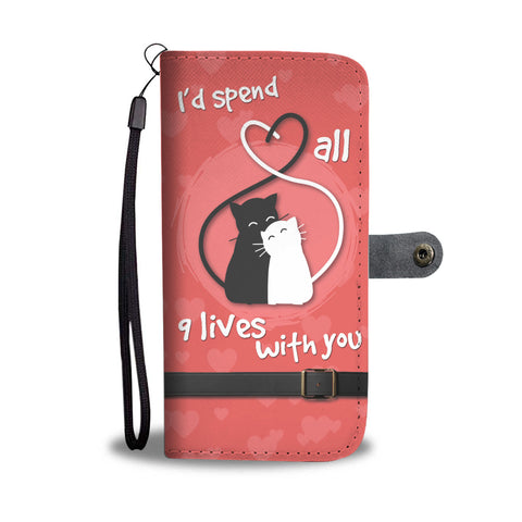 9 Lives Cat Wallet Phone Case - Mix Web Shop