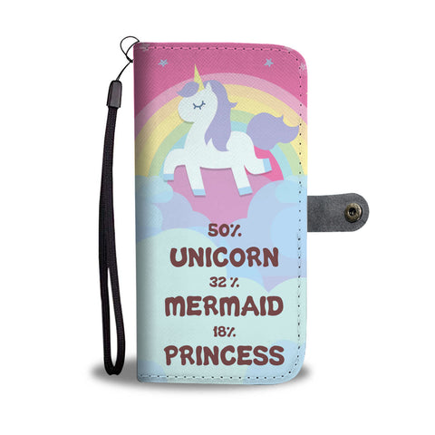 Unicorn Mermaid Princess Wallet Phone Case - Mix Web Shop