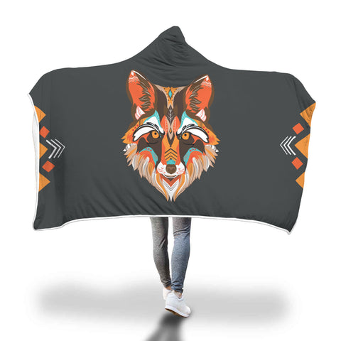 Red Wolf Hooded Blanket - Mix Web Shop