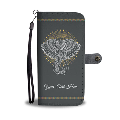 Personalized Elephant Wallet Phone Case