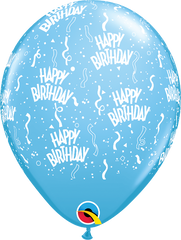 "Happy Birthday-A-Round Pale Blue 11"" Balloons"