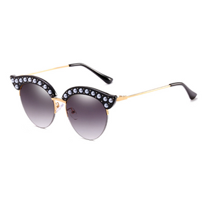 The Luxury Kitty Pearls Sunglasses Black - Youthly Labs