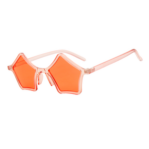 The Standout Stars Sunglasses Clear Orange