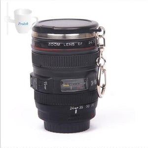 Camera Lens Coffee Mug With Lid and Bag