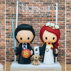 Signs, Accessories, Add-ons, & Fandom Props for Wedding Cake Toppers