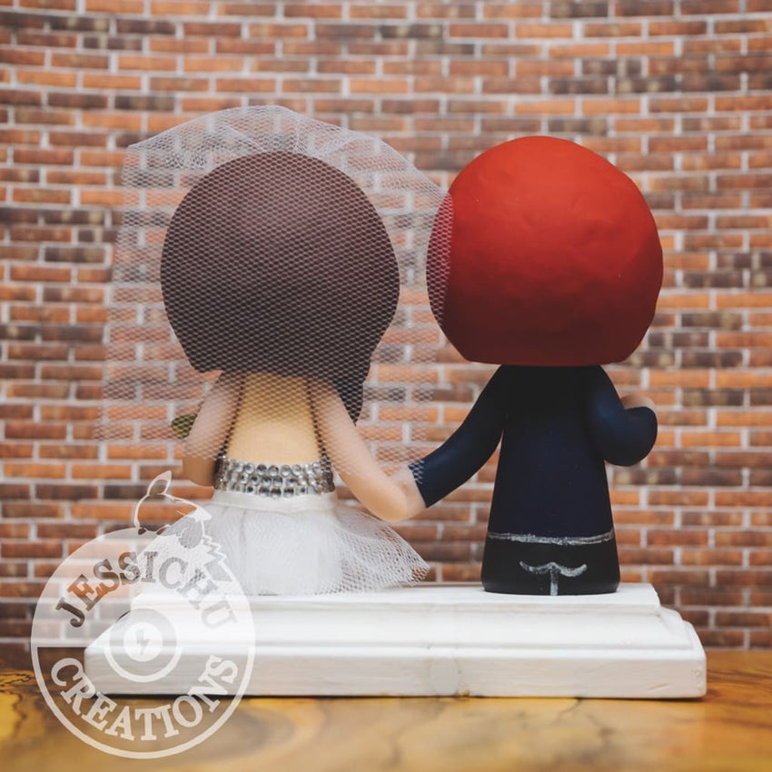 Green Lantern and Pretty Bride Wedding Cake Topper | DC | Jessichu Creations