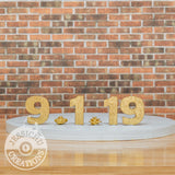 Wedding Cake Topper | Wooden Date Sign | Jessichu Creations