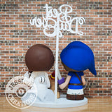 Link and Stormtrooper Wedding Cake Topper | Zelda x Star Wars | Jessichu Creations