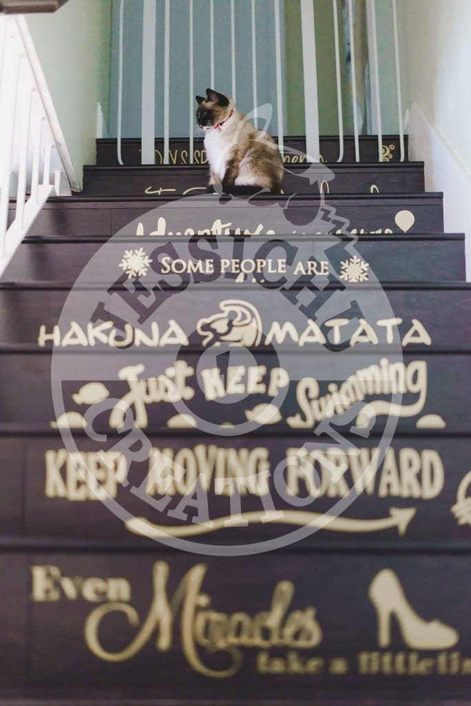 Disney Quotes Stairs Vinyl Decal - Home Decor Decals