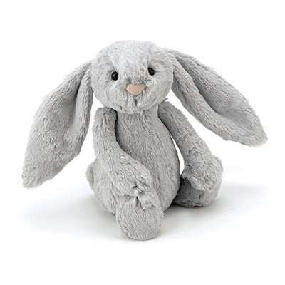 JellyCat Bashful Silver Bunny - Medium