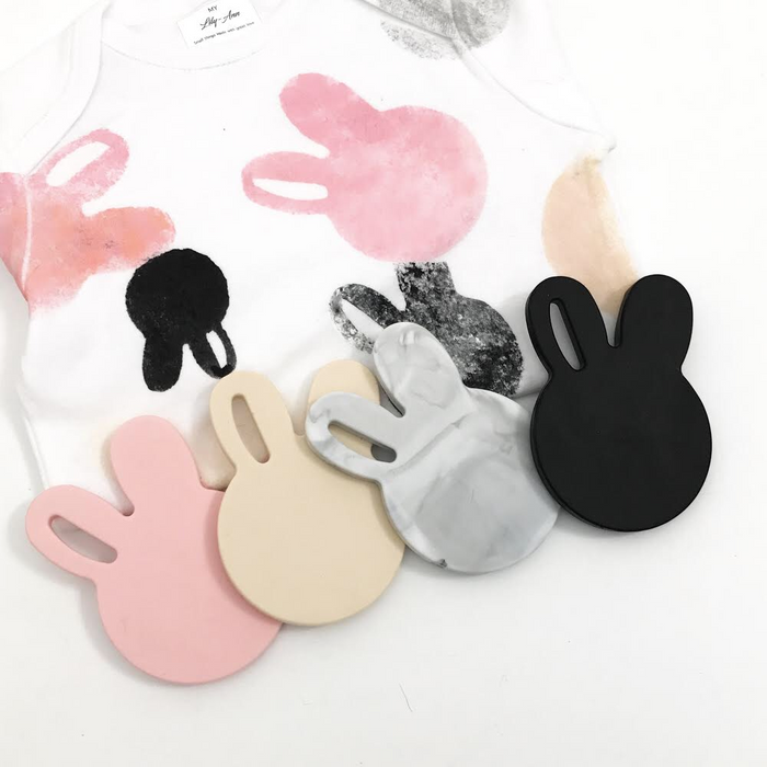 One Chew Three Bunny and Bear Silicone Teethers