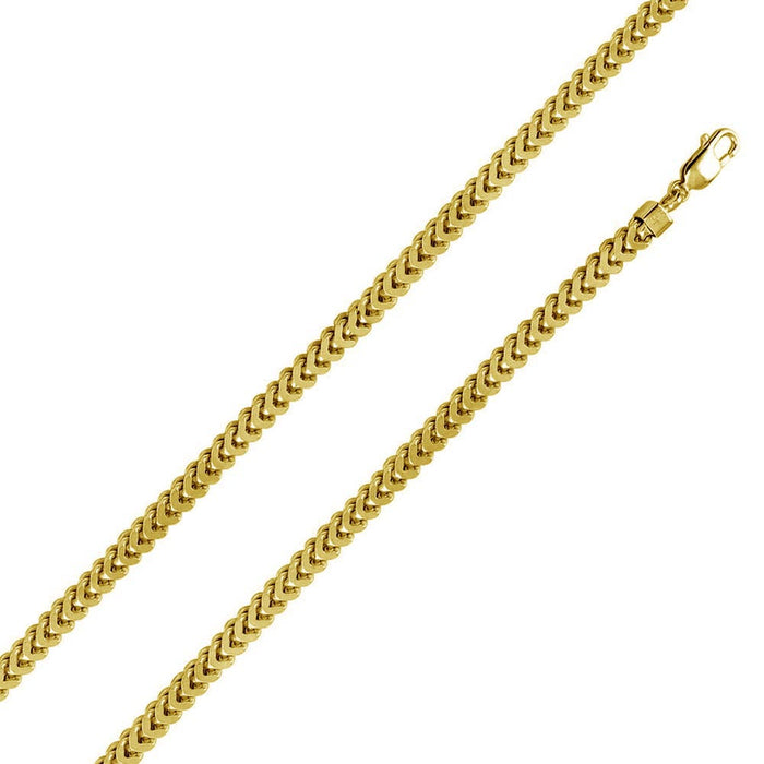 STERLING SILVER GOLD PLATED FRANCO CHAIN