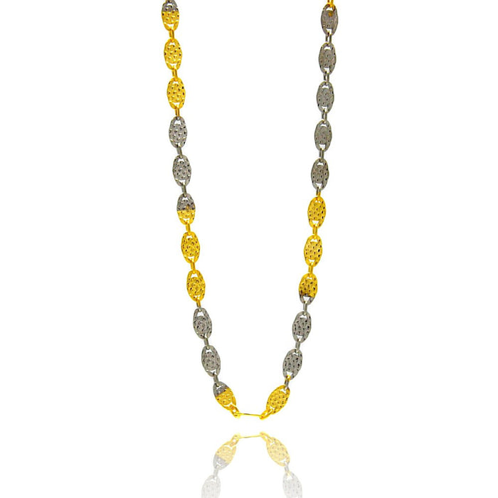 STERLING SILVER GOLD PLATED 2 TONED CACTUS CHAIN