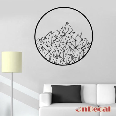 OnDecal Modern Geometric Mountains