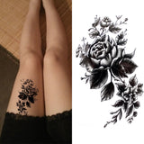 OnDecal Black Ink Art Temporary Tattoo