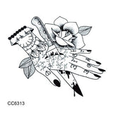 OnDecal Vintage Temporary Tattoo Art