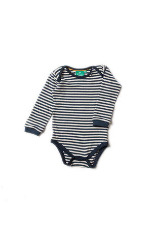 Pointelle Navy Stripe Babybody