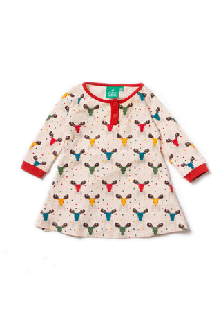 Rainbow Moose Playaway Dress