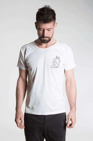 Mysore Room T-Shirt - Men's Yoga Tee - Natural , Tops  - Life By Equipe