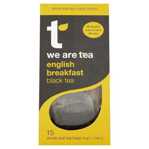 English Breakfast Whole Leaf Tea Bags - We Are Tea , Tea  - Life By Equipe
