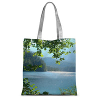 Calm Water Lake In Forests Sublimation Tote Bag 15X16.5 Accessories