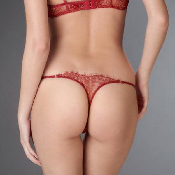 Panty tanga color rojo