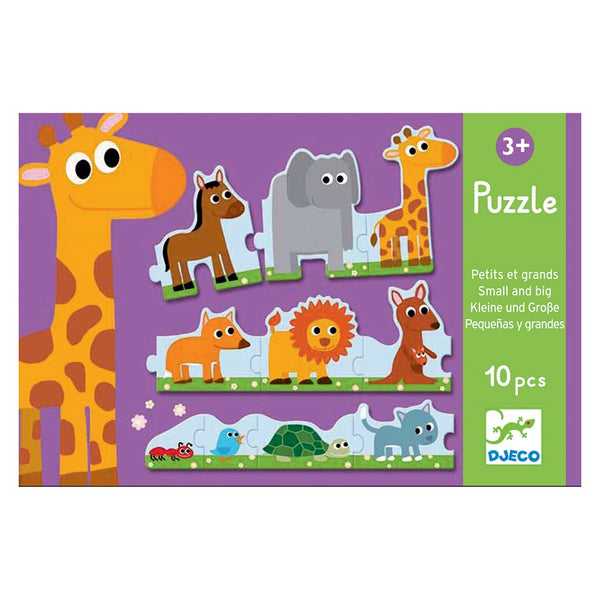 Djeco Puzzle | Animals Big to Small