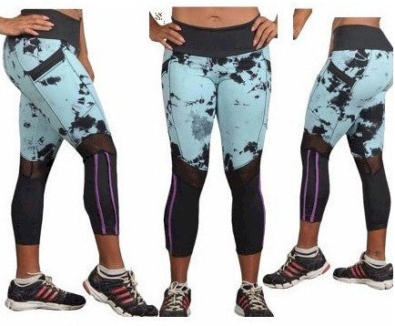 Women's Tie Dye Zip Fitness Legging with Cell Phone Pocket