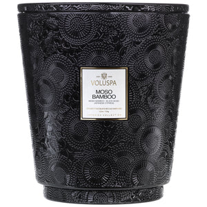 Hearth 5 Wick Glass Candle, Moso Bamboo - House of Moseley