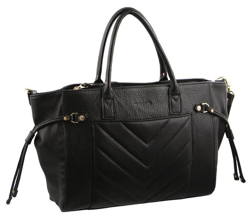 Pierre Cardin Italian Leather Stitch Tote Handbag PC2354