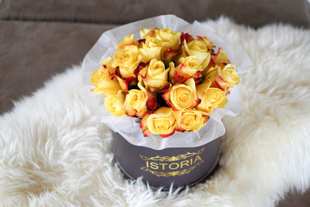 "Black & Gold Roses ""Magnificent"" 