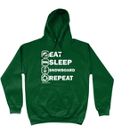 "Funky Yeti Hoodie ""Eat Sleep Snowboard Repeat"""