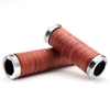 Leather Handlebar Grips Bicycle E-Bike ConTec Brown