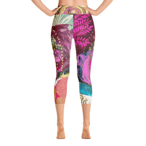 "Yoga Capri Pants ""giving thanks for abundance is greater than abundance itself"""