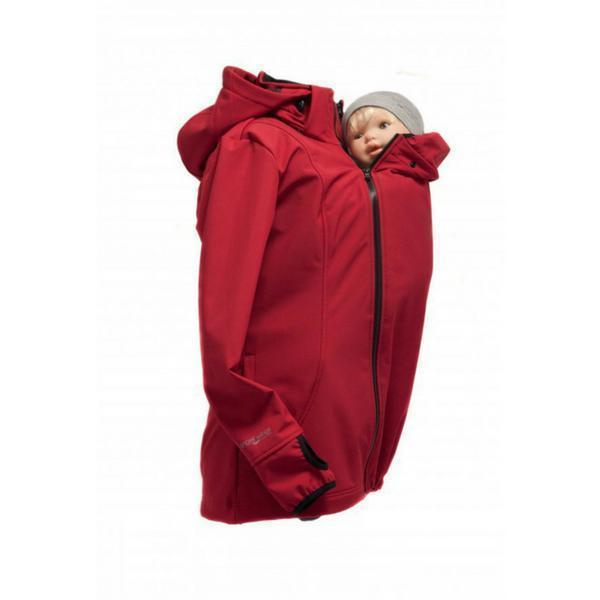 Angel Wings Babywearing Softshell Jacket Red-Babywearing Outerwear-Angel Wings- Little Zen One US Babywearing baby carriers
