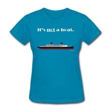 "Load image into Gallery viewer, ""It's Not a Boat"" (Ocean Liner Design) - Women's T-Shirt-CruiseHabit"
