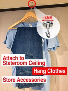 Strong Magnetic Hooks - Dry clothes in your cruise ship cabin and gain extra space-CruiseHabit