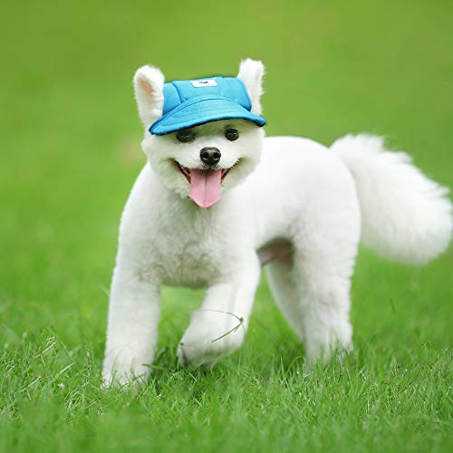 Dog Baseball Cap with Ear Holes and Chin Strap