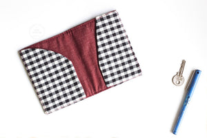 Black & White Checkered  Passport Sleeve